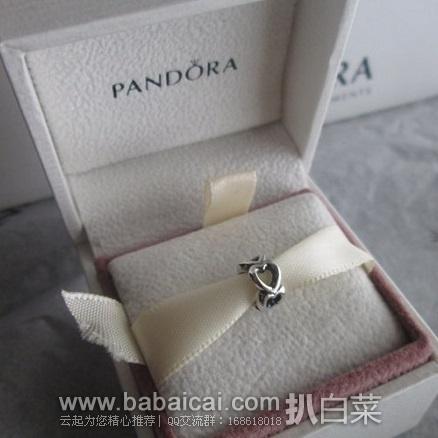 亚马逊海外购:Pandora 潘多拉 925纯银镂空桃心串饰 特价¥97.58,凑单直邮免运费,含税到手仅¥114