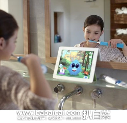 Amazon:Philips 飞利浦 HX6321/02 蓝牙版 充电式声波 儿童电动牙刷 特价$39.97,下单减$10实付$29.97,到手约¥232