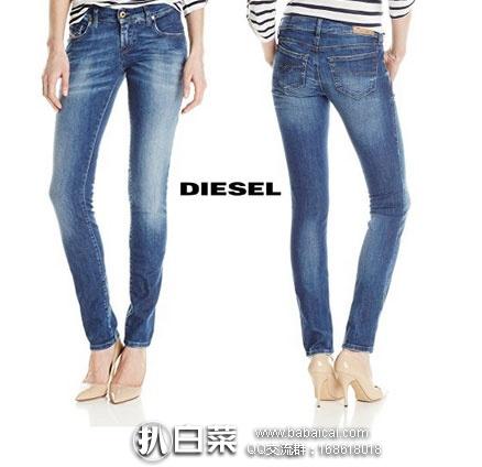 德国亚马逊:Diesel 迪赛 女士 纯棉修身牛仔裤 降至€43.8,直邮退税后€36.81