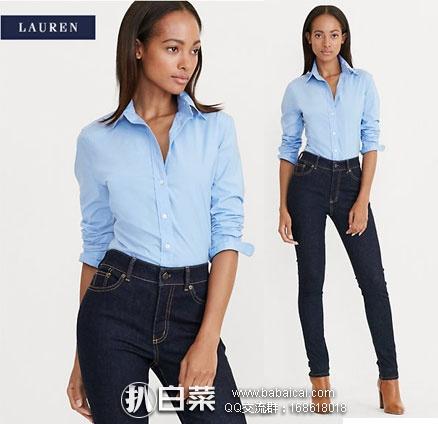 Ralph Lauren拉夫劳伦:拉夫劳伦 slim fit 女士修身微弹休闲衬衫 原价$80,现用码特价$41.99,