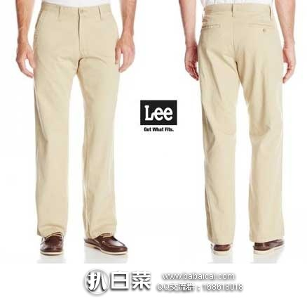 LEE 李牌 Weekend Chino Straight Fit Flat Front Pant 男士 纯棉休闲裤  原价$58,现降至$13.95