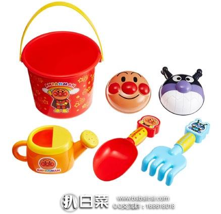 日本亚马逊:面包超人沙滩玩具/挖沙挖土工具 6件套 会员专享价998 日元(约¥59元)