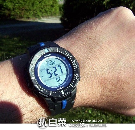 Casio 卡西欧 登山太阳能防水运动手表 PRG-300-1A2CR 原价$250,现历史新低$88.99,直邮含税到手¥ 696