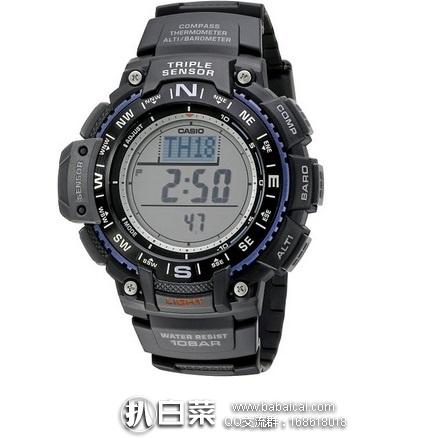 亚马逊海外购:CASIO 卡西欧 SGW-1000-1ACR 男士运动手表 特价¥346.82,直邮免运费,含税到手¥459