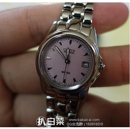 Citizen 西铁城 EW1620-57X 女式光动能腕表 原价5,现9,直邮含税到手约¥848