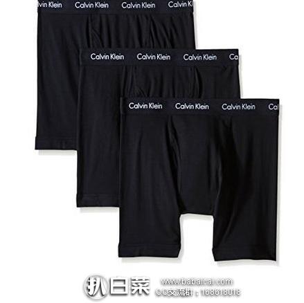 Calvin Klein 男士弹力棉平角内裤 3条装 原价$42.5,现$19.19,到手约¥52/条