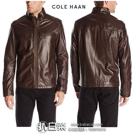 Cole Haan 可汗 男士 100%小羔羊皮机车款 真皮夹克 原价$695, 现$157.62,直邮免运费,含税到手¥1222