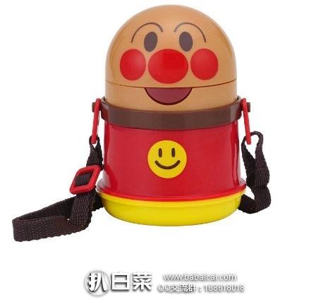日本亚马逊:日本 LEC 面包超人水壶保冷软管吸管杯400ml 有背带  特价952日元(¥58)