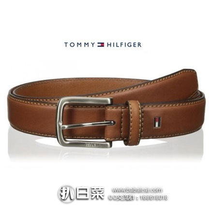Tommy Hilfiger 汤米希尔费格 男士真皮皮带 原价$45,现历史新低$11.46,到手约¥105