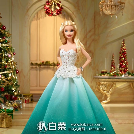 亚马逊海外购:Barbie 芭比娃娃 2016年 节日收藏版 现¥158.26,凑单直邮免运费,含税到手¥185