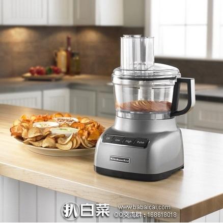 亚马逊海外购:销量第一,KitchenAid 凯膳怡 7杯家用多功能料理机 特价¥545.68,直邮免运费,含税到手新低¥610