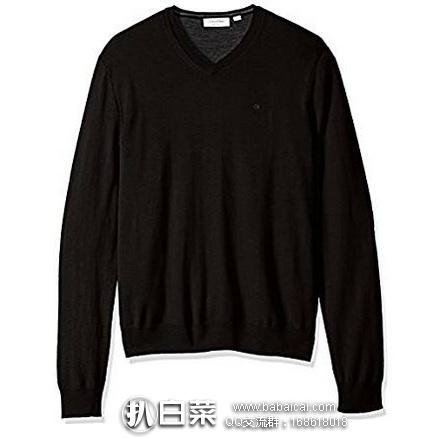 Calvin Klein 100%纯美利奴羊毛 男士针织衫 原价$120,现$44.1,黑五7折新低$31.15,到手约¥245