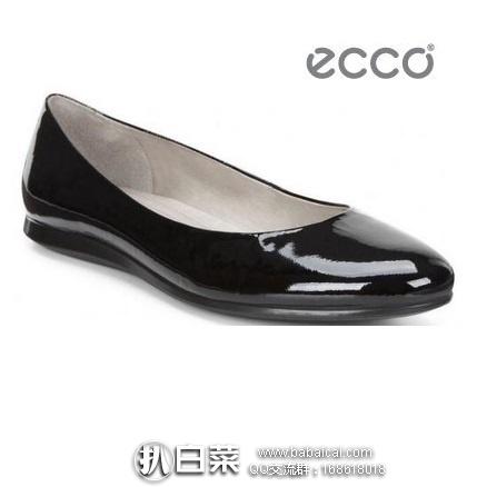 ECCO 爱步 触感 女士真皮平底鞋 原价$130,现4折新低$51.97,到手¥415