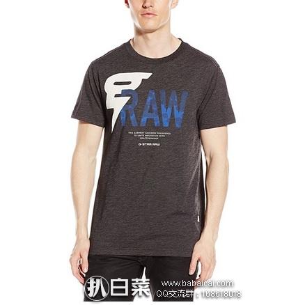 G-STAR 男士圆领印花T恤 原价$40,现$17.07,黑五8折实付$13.66,直邮含税到手约¥13
