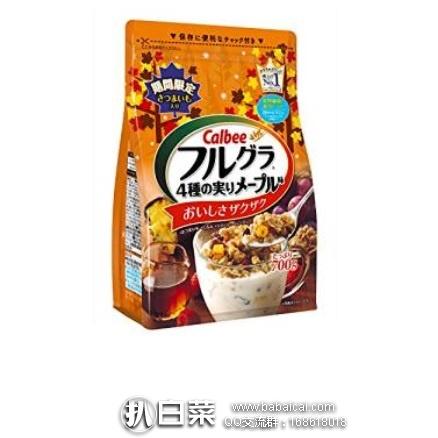 日本亚马逊:Calbee 卡乐比 枫糖味4种果实味麦片700g×6袋 秒杀价3730日元(¥225)