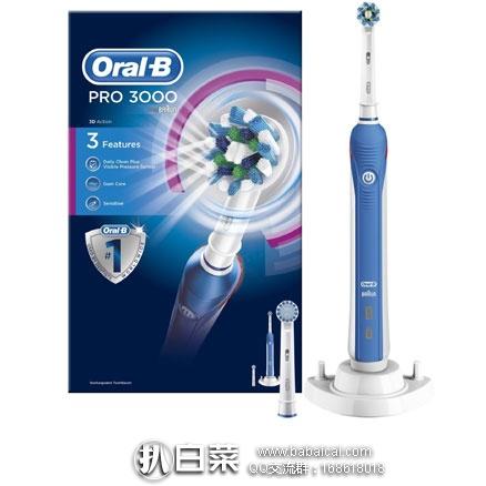亚马逊海外购:Oral-B 欧乐-B PRO 3000 多动向电动充电牙刷 现¥270.66,直邮免运费,含税到手仅¥303