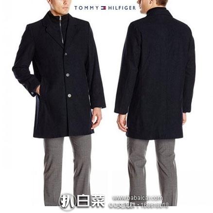 Tommy Hilfiger 汤米希尔费格 男士长款单排扣羊毛大衣 原价$495,现新低$50左右,到手¥475