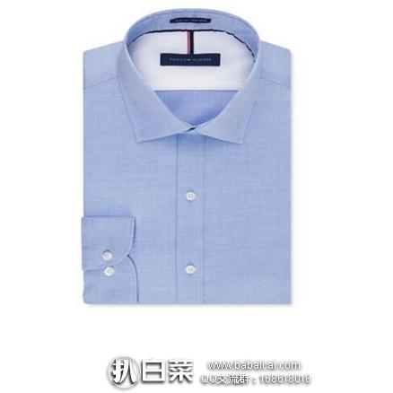 Tommy Hilfiger 汤米希尔费格 男士纯棉衬衫 原价$69.5,现$16.99,黑五8折实付新低$13.59,到手约¥122