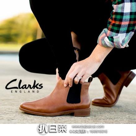 英国亚马逊:Clarks 其乐 Taylor Shine 女士 经典切尔西靴真皮短靴  特价£41.67,直邮退税实付£34.73,直邮含税到手约¥430