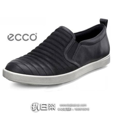 ECCO 爱步 女士真皮一脚蹬休闲鞋 原价$130,现2.3折新低$30,到手¥280,天猫¥1259