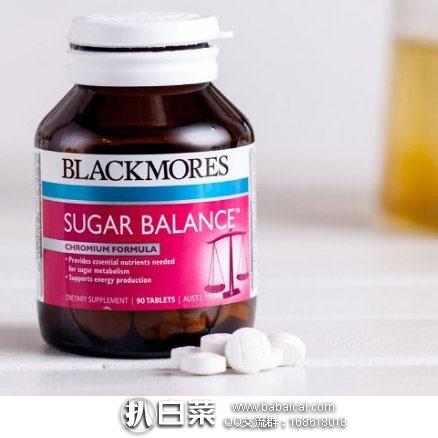 澳洲Pharmacyonline药房:Blackmores 澳佳宝 血糖平衡片 90片(辅助降血糖) 4瓶装 特价AU$45.55,凑单直邮包邮到手仅约¥59/瓶