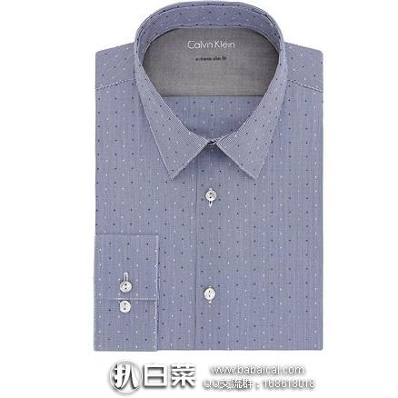 Calvin Klein 主标系列 男士弹力修身衬衫 原价$80,现历史新低$17.38,到手约¥159