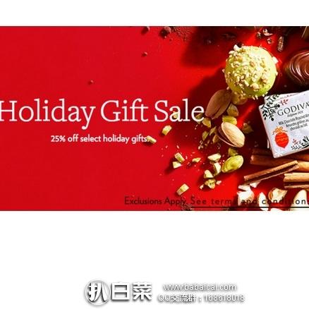 Godiva歌帝梵官网:精选巧克力礼盒 限时无门槛7.5折,订单满$25免美国境内运费!