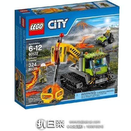 亚马逊中国:LEGO 乐高 60122 City 系列 火山探险履带式潜孔钻车 (共含324颗粒) 现特价¥209,领券减¥20实付新低¥189包邮