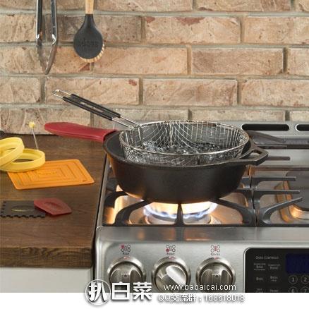 亚马逊海外购:Lodge 洛奇 L8DSK3 26cm铸铁深口煎锅  现特价¥158.04,凑单直邮包邮,含税到手仅¥177