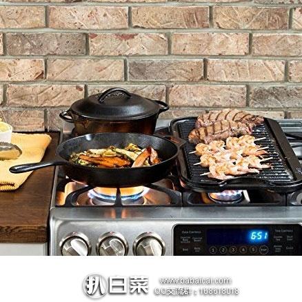 亚马逊海外购:Lodge 洛奇 铸铁无烟荷兰煎锅 特价¥88.42    凑单免费直邮,含税到手¥99