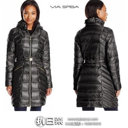 Via Spiga 女士轻量中长款连帽羽绒服 原价$280,现新低价$36.55,到手仅¥325