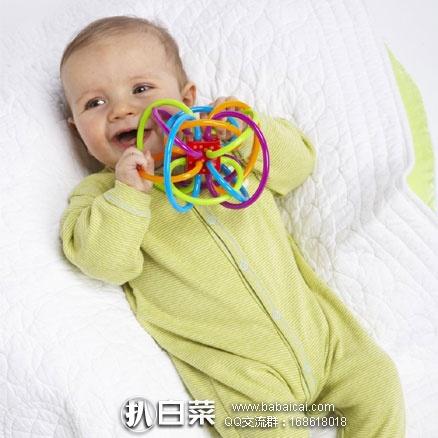 亚马逊海外购:Manhattan Toy Winkel 曼哈顿 摇铃感官牙胶玩具 特价¥74,拍2个多重优惠实付新低¥66.6包邮,仅¥33.3/个!