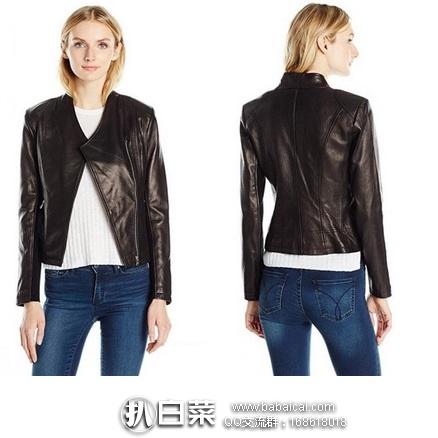 Calvin Klein 女士真皮机车夹克 原价$500,现2.2折历史新低$107.82,到手仅¥845