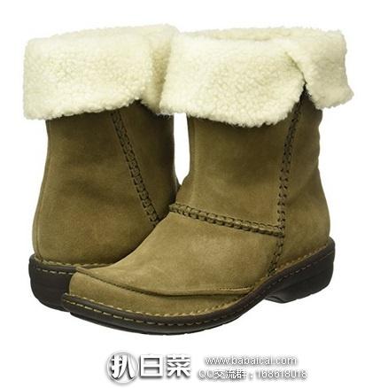 英国亚马逊:Clarks 其乐 Avington Grace 女款真皮保暖雪地靴 原价£100,现£22.5,直邮退税实付新低£18.75,直邮到手约¥332