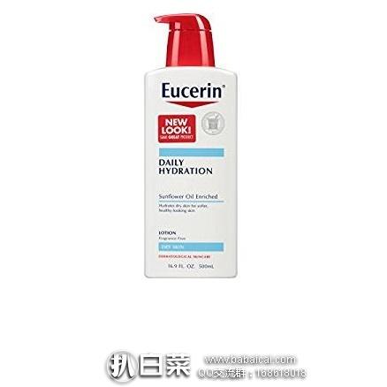 亚马逊海外购:Eucerin 优色林 每日滋养保湿身体乳液 500ml*3瓶 特价¥102.41,凑单直邮免运费,含税到手历史新低¥38/瓶