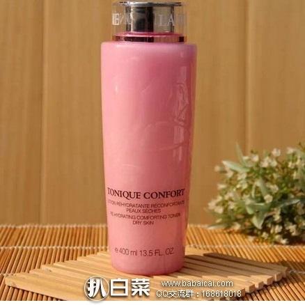 西班牙Perfume's Club官网:Lancome 兰蔻 清滢柔肤水 大粉水 400ml 降至€37.57,凑单折后€35.91,直邮包邮到手约¥273