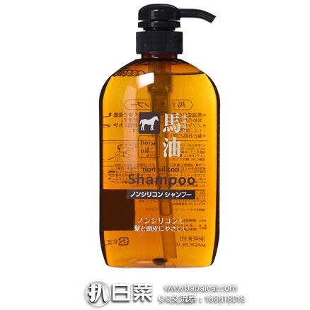 日本亚马逊:熊野 油脂无硅 纯天然弱酸性 马油洗发水 600ml 补货好价480日元 (约¥29)
