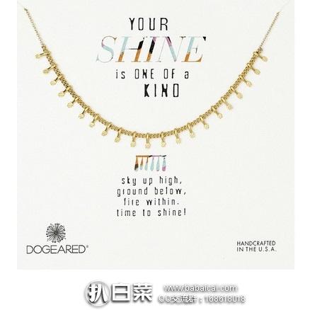 亚马逊海外购:Dogeared 纯银花瓣式项链 特价¥136.83 ,凑单免运费,含税到手¥152