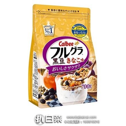 日本亚马逊:Calbee 卡乐比 黑豆粉水果五谷杂粮果实谷物麦片700g*6袋 限时秒杀价3700日元(¥225)