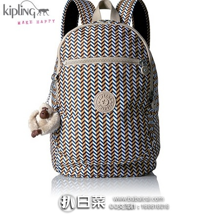 KIPLING 吉普林 Challenger 多功能中号双肩包 原价$104,现仅$42.96,到手约¥375   国内¥1050