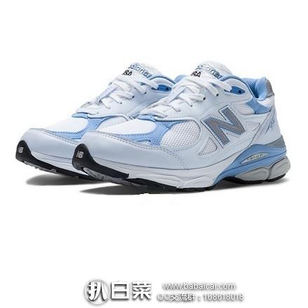 New Balance 新百伦 女款990V3第三代总统慢跑鞋 原价$155,现$62.36,到手¥530