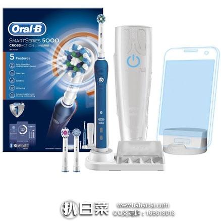亚马逊海外购:Oral-B 5000型 专业护理电动牙刷 可蓝牙互动 降至¥431.41,直邮免运,含税到手仅¥479