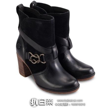 亚马逊海外购:Timberland 天木兰 女士真皮粗跟短靴 特价¥194.63,凑单直邮免运,含税到手仅¥218
