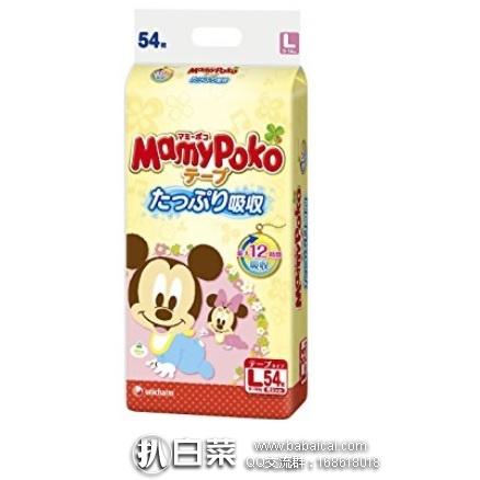 日本亚马逊: Unicharm 尤妮佳 迪斯尼款 妈咪宝贝男女童通用腰贴式纸尿裤 L码(9-14kg)54枚 特价907日元(¥56)