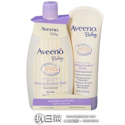 亚马逊海外购:Aveeno艾维诺婴儿舒缓沐浴露+润肤乳套装 降至¥99.81,凑单免费直邮,含税到手¥125