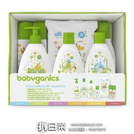 亚马逊海外购:Babyganics Baby 甘尼克宝贝 Safe World 儿童 基础护肤套装7件套,直邮免运费,含税到手¥263.28