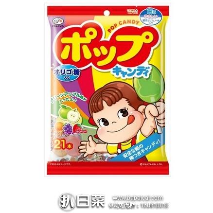 日本亚马逊:不二家绿茶多酚护齿水果棒棒糖 21支*6袋 特价1055日元(64)