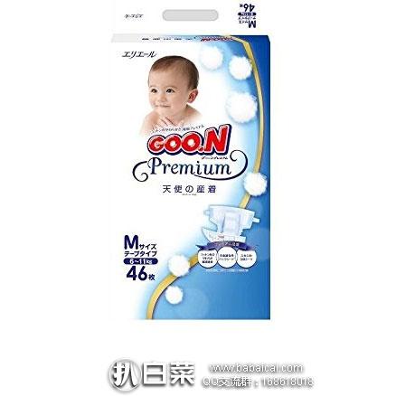 日本亚马逊:GOON 日本大王 天使系列 纸尿裤( 6~11kg)M码46片装 特价1583日元(¥95)