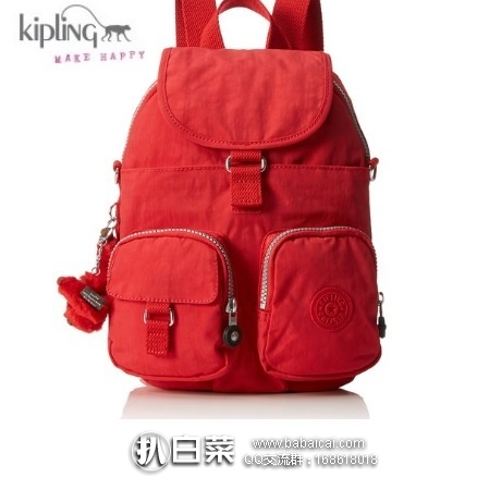 亚马逊海外购:Kipling 吉普林 Firefly 双肩包 可单肩背 特价¥282.11,直邮免运费,含税到手仅¥316