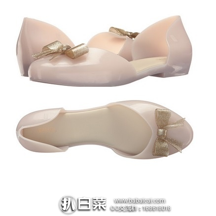6pm:Melissa 梅丽莎 Angel 女士平底鞋 原价$75,现$39.99,到手约¥350